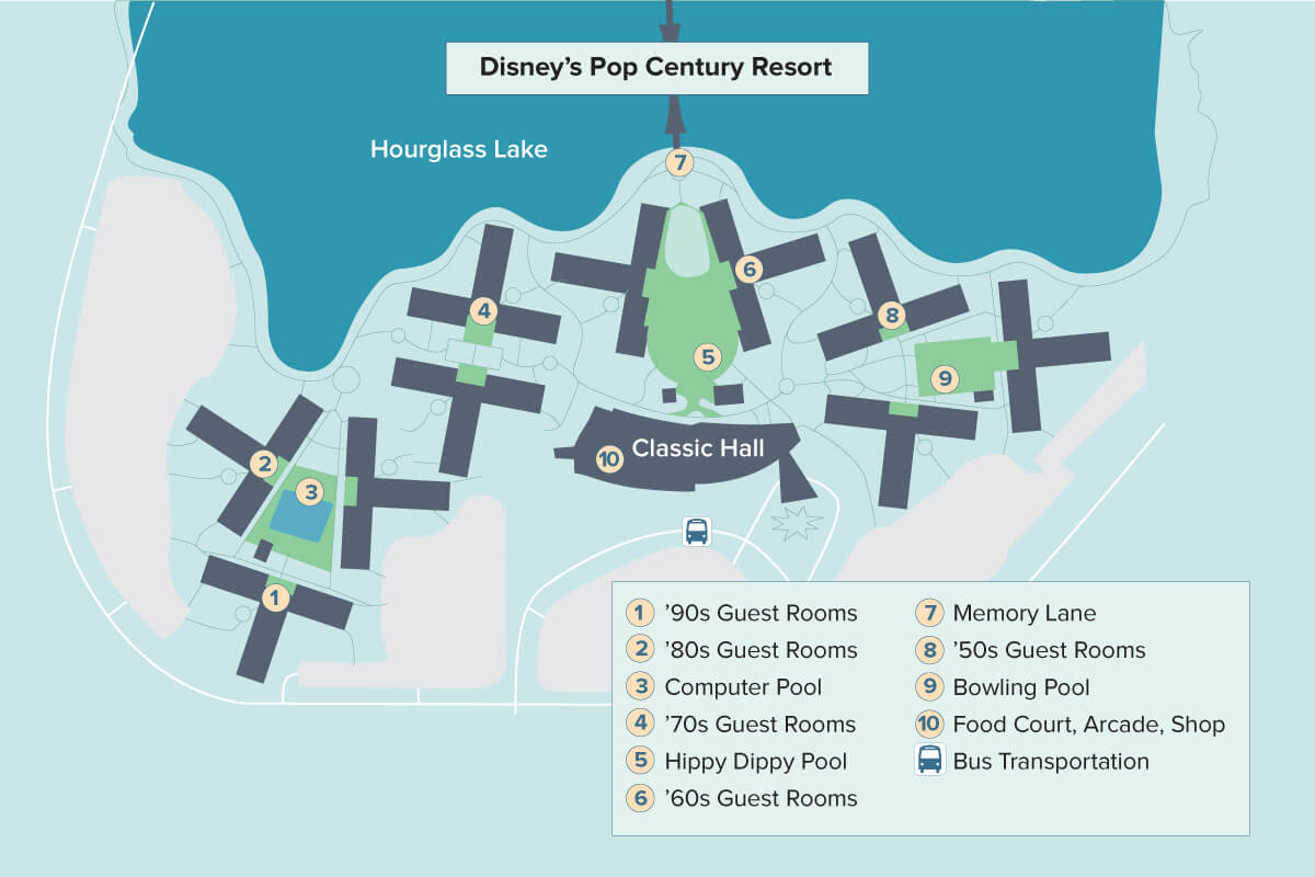 Disney S Pop Century Resort Walt Disney World